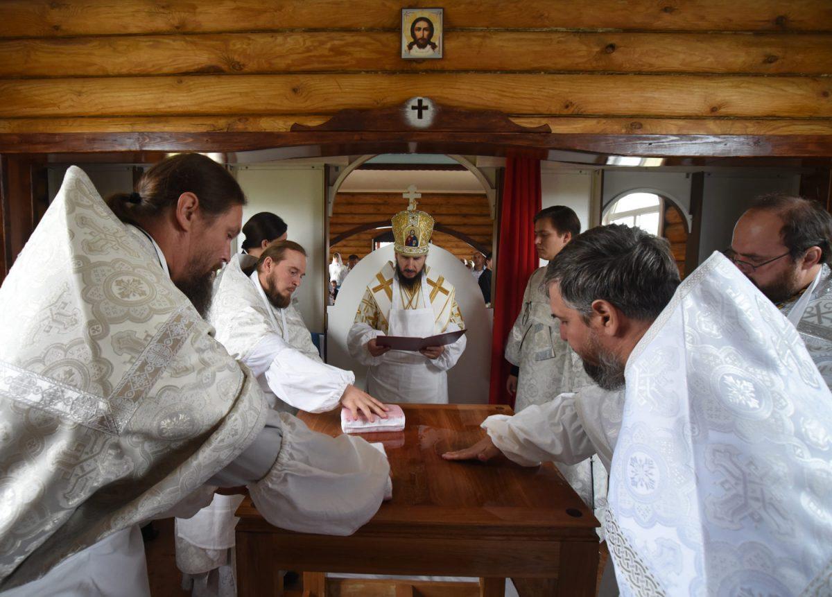 Освящение храма в селе Кошкарово Сергачского района