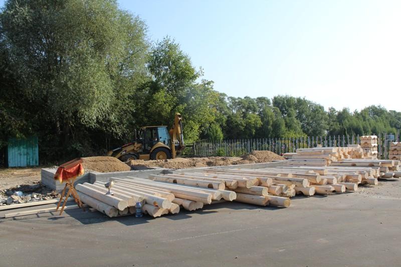 Строительство храма в честь благоверных Бориса и Глеба на новом кладбище